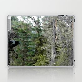 Crow, the forest gate keeper Laptop & iPad Skin