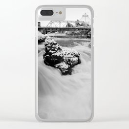 Down, Out of that Cold Sky Clear iPhone Case