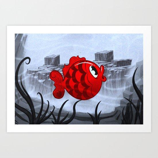 RED & BLUE Art Print