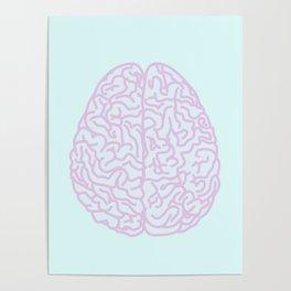 Pastel Brain Poster