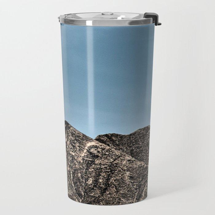 Moon over the Franklin Mountains Travel Mug