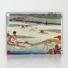 Hiroshige - 36 Views of Mount Fuji (1858) - 26: The Ōi River between Suruga and Totomi Provinces Laptop & iPad Skin