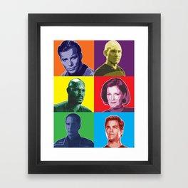 Star Trek Captains Poster Framed Art Print