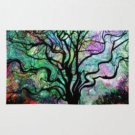 Van Goghs Aurora Borealis Reflection Rug