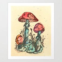 Mushrooms 3 Art Print
