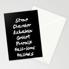 Harry Potter Book Titles Stationery Cards