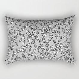 Rockwell Birds - Gray Rectangular Pillow