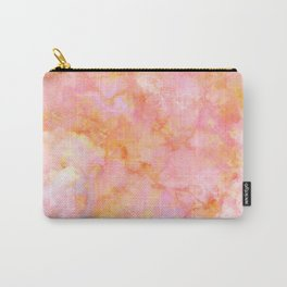 Rosé and Sunny Marble - pink, coral and orange Carry-All Pouch
