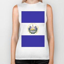 El Salvador flag emblem Biker Tank