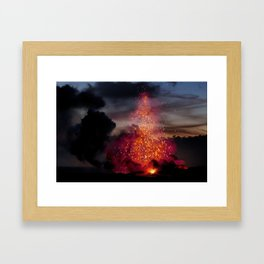 Kilauea Volcano at Kalapana 3a1 Framed Art Print