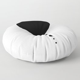 The Solar System (white) Floor Pillow