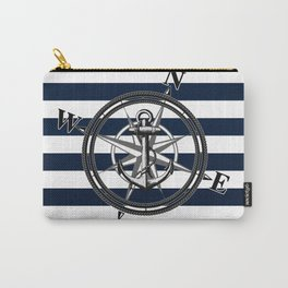 Navy Striped Nautica Carry-All Pouch