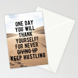 Motivational - Don't Ever Give Up! Stationery Cards