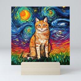 Orange Tabby Night Mini Art Print