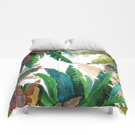 Color LEaves Watercolor Comforters