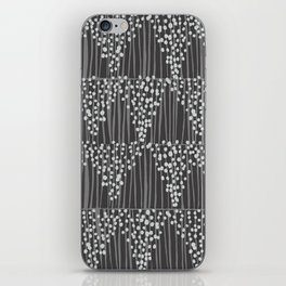 Dots + Stripes - Charcoal iPhone Skin