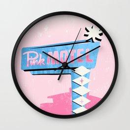 pink motel Wall Clock