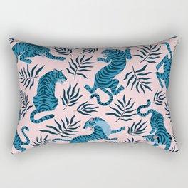 Blue asian tigers Rectangular Pillow
