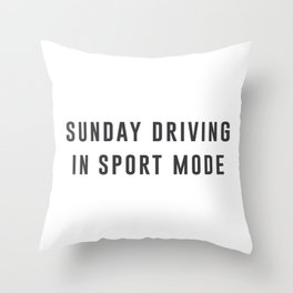 Sunday Driving Throw Pillow
