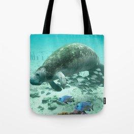 Large  Manatee Tote Bag