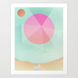 Prismatic Sun Art Print