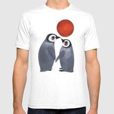 Penguin Love White MEDIUM Mens Fitted Tee