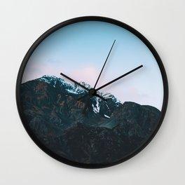 Dawn Mountain - Kenai Fjords National Park Wall Clock