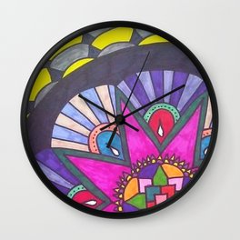 Blossoming Solo Wall Clock