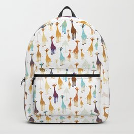 Giraffe of a different Color: white background Backpack