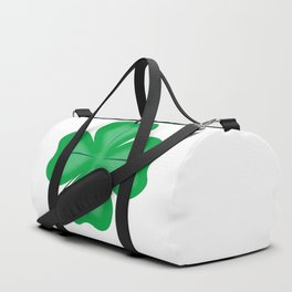 Lucky Four Leaf Shamrock Duffle Bag
