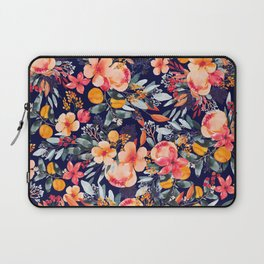 Navy Floral Laptop Sleeve