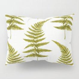 Green Watercolor Fern Pattern Pillow Sham
