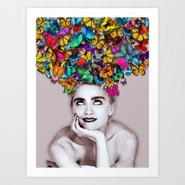 Madonna Butterfly Art Print