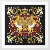 Royal Horses Bordeaux  Art Print