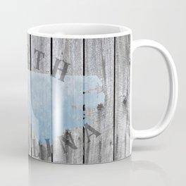North Carolina State Map NC Rustic Wood Barn Wall Coffee Mug