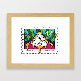 420 Commemorative Stamp Framed Art Print
