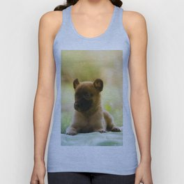 Malinois puppies in the soap blowing game Unisex Tank Top