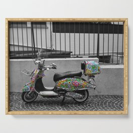Cannes French Riviera Vintage Scooter Photography Serving Tray