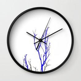 TWILIGHT WINTER TREE BRANCHES Wall Clock