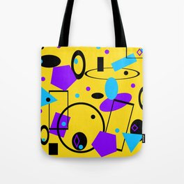 Retro abstract print yellow Tote Bag