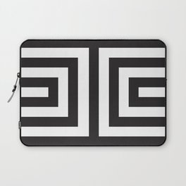 Black Greek Stripes Laptop Sleeve
