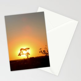 Sunset on the African Savanna Stationery Cards