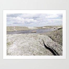 Granite Pool in the Clouds Art Print