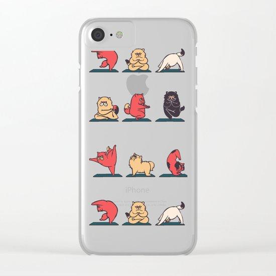 Cat Yoga Clear iPhone Case