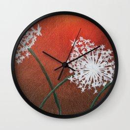 Poppy's Dandy Wall Clock