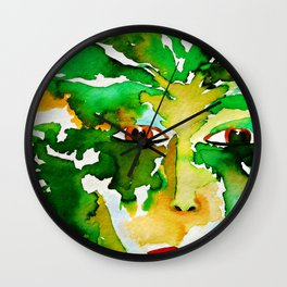 The Eyes of the Goddess of the Wood Wall Clock