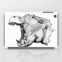 hippo iPad Cases featuring Hippo by MattLeckie