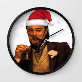 Leonardo Dicaprio laughing meme (Christmas edition) Wall Clock
