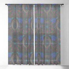 Darma Abstract Art Sheer Curtain