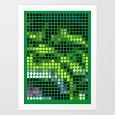 Mr Green 2 Art Print